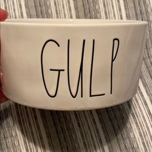 Rae Dunn dog water bowl